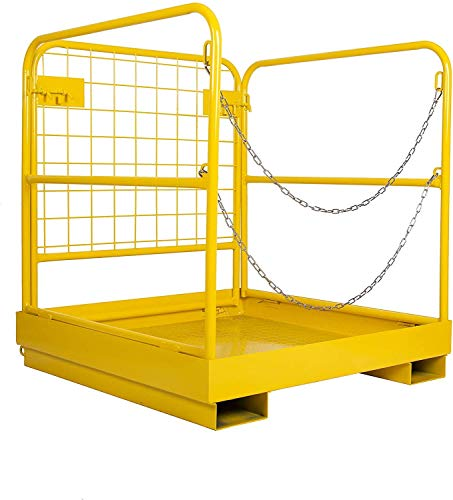 36x36 Forklift Safety Cage Heavy Duty Steel Sturdy Stable Structure 1102 LBS Capacity Folding Storage