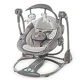 ZZKJCCF Neugeborene Schlafen Schaukel Wiege, Kinder Schaukel Stuhl TüRsteher, Infant TüRsteher Und Wippen, Baby Schaukelstuhl Safe Automatische Wiege,D