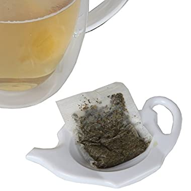 Home-X Teapot-Shaped Teabag Holders - Set of 4