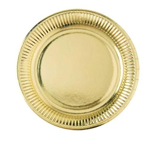 Fetez moi - 8 assiettes cartonnées et laquées or - 23 cm