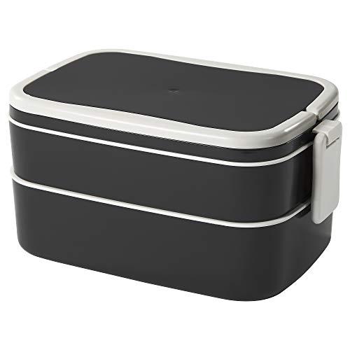 IKEA Flottig Lunch Box, Black, White