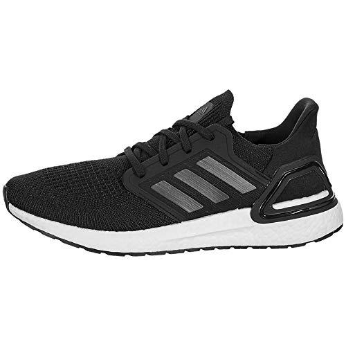 adidas Men's Ultraboost 20 Running Shoe, Black/Night Metallic/White, 12 M US