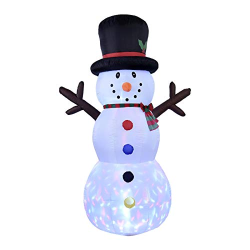 runnerequipment 8FT Christmas Decorations Outdoor Inflatable Christmas Tree Blow Up Christmas Decorations Built-in LED Lights, Santa Claus Reindeer Sleigh Outdoor Decoration
