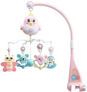 RETTI Lit de bébé mobile mobile multifonction musical hochet boîte à musique veilleuse nouveau-né lit hochet jouet rotatif...