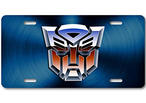 Voss Collectables Transformers Autobot Color Logo Aluminum Car Truck License Plate Tag Blue
