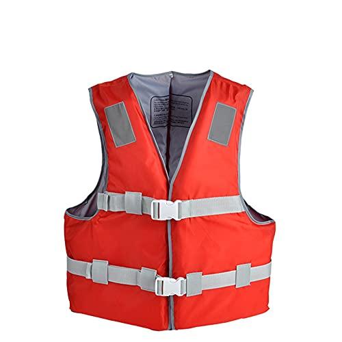 CYzpf Chaleco Salvavidas Adulto Plegable Flotación Portátil Ayuda de la Nadada Vest Flotabilidad Equipamiento para Deportes Acuáticos Kayak Canotaje Snorkel,Red,S