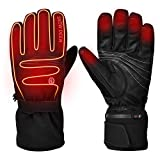 Heated Gloves,Motorcycle Gloves,7.4V 2200MAH Electric Rechargable Battery Gloves for Men...
