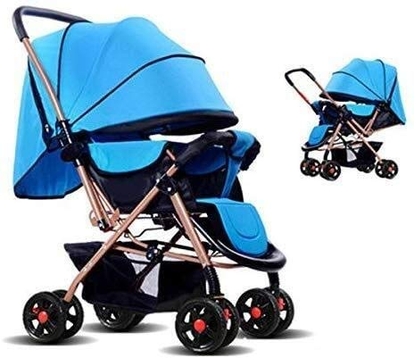 Find Bargain GPWDSN Pushchairs and Strollers Kids, Can Sit Horizontal Portable Folding Bidirectional...