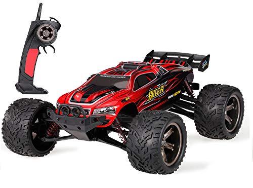 MODELTRONIC Coche Radio Control teledirigido Monster Truggy Escala 1/12 9115 9116 Eléctrico 2.4G / Velocidad de 40km/h / Batería Recargable lipo incluida / Coche RC XINLEHONG (Truggy Rojo 9116)