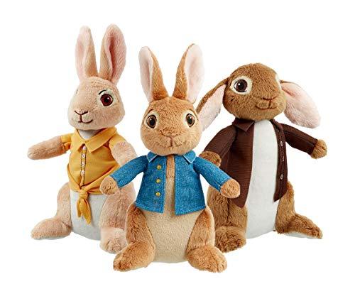 Coleccin de Peluches Peter Rabbit: Peter (23 cm), Benjamin (18 cm) y Mopsy (23 cm) (3 Piezas)