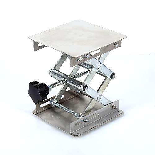 Lab mesa elevadora - 100x100mm Lab-Lift Plataformas de elevación del estante del soporte de laboratorio de acero inoxidable de elevación de tijera Plataforma rack