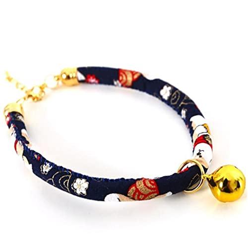 PiniceCore Collares Súper Gato Estilo Japonés Shiba Inu Collares De Perro De Animal Doméstico con Colgante De Bell Accesorios Collar