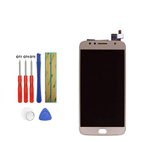Upplus, display LCD di ricambio compatibile per Motorola Moto G5S Plus XT1803 XT1805 XT1804 XT1806 XT1802, display LCD Touch Screen Digitizer Assembly con kit di attrezzi (oro)