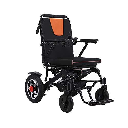 ZXGQF Silla De Ruedas Eléctrica, Silla de Ruedas Ligera portátil, (batería de Iones de Litio), Power Chair, para Ancianos Discapacitados Adultos