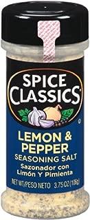 Spice Classics Lemon & Pepper Seasoning Salt, 3.75 oz (Pack of 12)