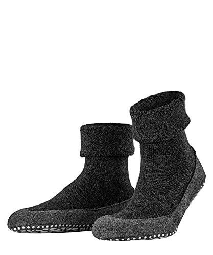 FALKE Herren Cosyshoe M HP Hausschuh-Socken, Blickdicht, Grau (Anthracite Melange 3080), 37-38