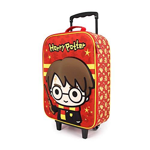 Karactermania Harry Potter Wand - Maleta Trolley Soft 3D, Multicolor, Un tamaño
