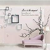 XHXI 8D tridimensional tulipán sala de estar sofá TV fondo papel de pared flor de ciruelo moderno minimalista 5D cóncavo-co papel Pintado de pared tapiz Decoración dormitorio Fotomural-400cm×280cm
