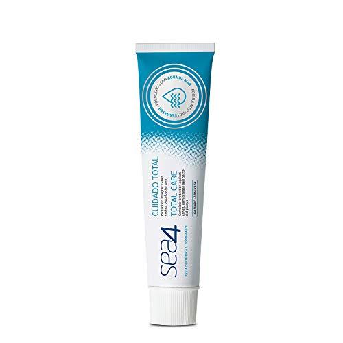 Sea4 Pasta Dentífrica Cuidado Total Uso Diario, Protección Integral Anticaties, Antiplaca Bacteriana y Protección Encías, Formulado con Agua de Mar, 75ml, Azul (303816)