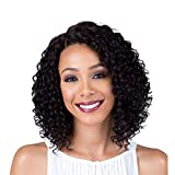 Short Lace Front Curly Wigs Black Wig for Women Synthetic Fiber 13' Kinky Curly