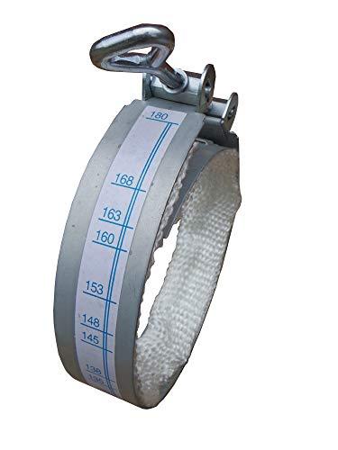 Rauchrohrschelle verstellbar Ø 100 mm - 180 mm mit Dichtband glatt - Dichtschelle universal für Kaminrohr Ofenrohr