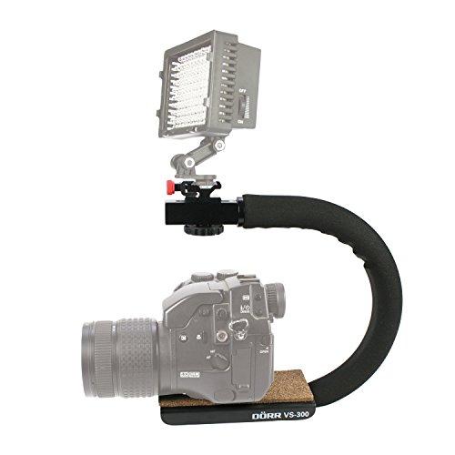Dörr Kameragriff Video Slider VS300 mit Alu-Aufsteckfuß für DSLR/DSLM/Camcorder