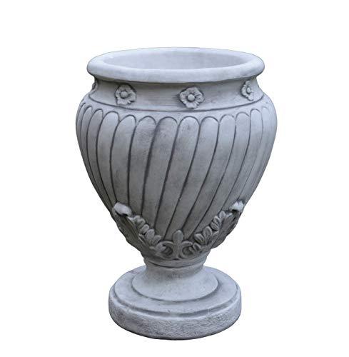 gartendekoparadies.de Massives Pflanzgefäß Vase Pflanztrog Amphore elegant aus Steinguss frostfest