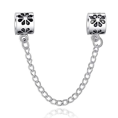 N/H Charme fit Armband Sicherheit kettenstopper Charme schmuck Machen Silber Farbe zubehör pa5256