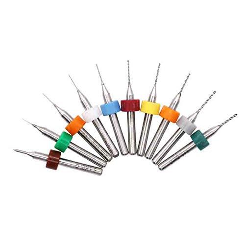 Drill Bit Twist Drill Set 10Pcs PCB Drill Titanium Coated Hss Engraving Mini Twist Drill Bit Set Carpenter Woodworking Drill Set Bit 2.1 3.0Mm 10Pcs Round Handle Twist Drill by BDDLI