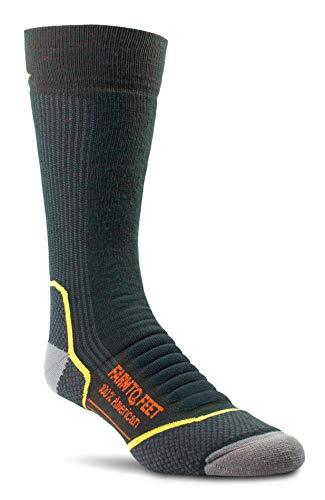 Farm to Feet Damascus Midweight Crew Merino Wool Socks, Green Gables, Medium