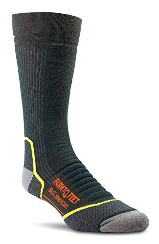 Farm to Feet Damascus Midweight Crew Merino Wool Socks, Green Gables, Medium