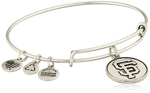Alex and Ani San Francisco Giants Cap Logo Expandable Rafaelian Silver Bangle Bracelet