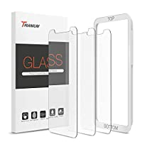"[3 Pack] ULTRA SLIM - Trianium's Tempered Glass Screen Protectors are 0.25mm thin, making them hardly noticeable for your viewing pleasure. Specifically made for iPhone XS Max 2018 / iPhone 11 Pro Max 6.5"" Display. Scratch proof - this durable screen..."