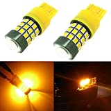 Alla Lighting 2pcs Super Bright Amber Yellow 28W8W HT7444NA 7444NAK LED Bulbs Front Turn Signal Blinker Indicator Light Lamps Compatible with 2009 2010 2011 2012 2013 2014 2015 2016 2017 Frontier