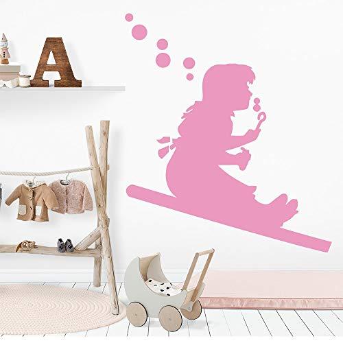 YuanMinglu Mode Blasen Blase Mädchen Dekoration Home Party Dekoration Tapete Applique Wanddekor 33,6X38,4 cm