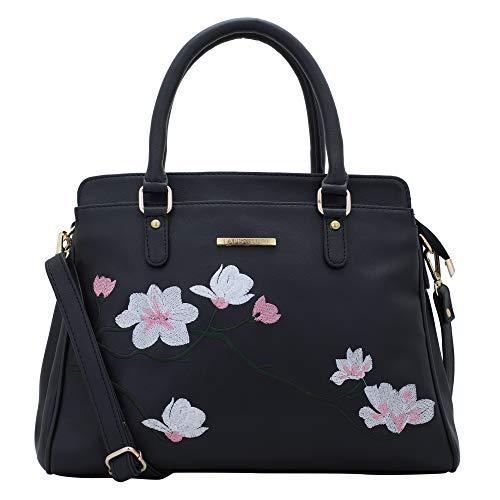Lapis O Lupo Women's Handbag (LLHB0039BK_Black)