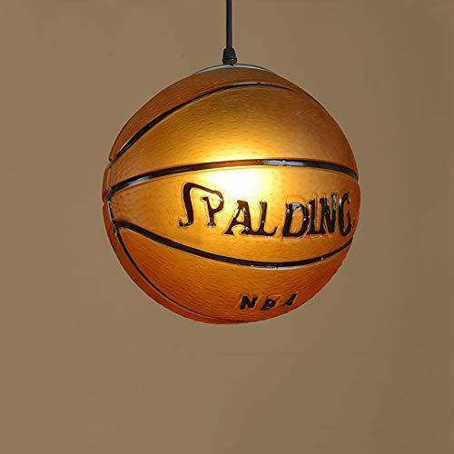 YFMYY Luces colgantes creativas modernas de baloncesto Luces colgantes de vidrieras de moda Luces de techo Habitación for niños Restaurante Bar Personalidad Lámpara de araña E27 AC 110V-240V