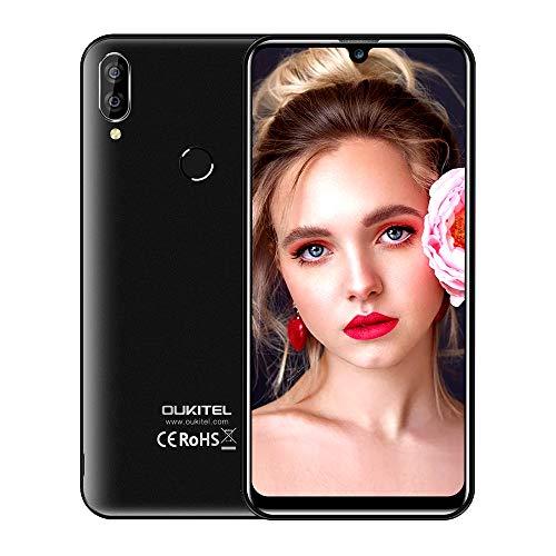 Günstige Smartphone Ohne Vertrag, OUKITEL C16 Pro Preiswerte Android 9.0 4G Dual SIM Handy,5,71 Zoll 32G ROM Dual Kameras Face/Fingerabdrucksensor Smartphones,Schwarz