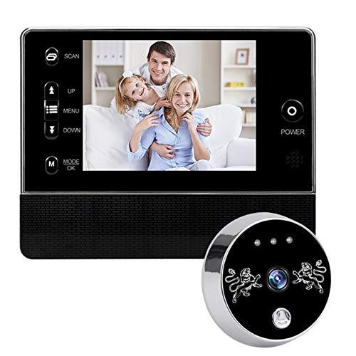 Sbeautli Espectador de la Puerta Puerta Mirilla cámara de vídeo Timbre de 3,5 Pulgadas de Alta definición Digital Video de la Puerta de Ojos Fácil Instalación