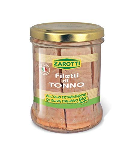 Zarotti Filetti di Tonno Distesi in Olio Extravergine di Oliva Italiano Bio 160 gr (Confezione da 6) - 1.85 kg