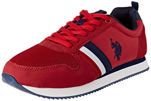 U.S. POLO ASSN. Nobi, Sneaker Uomo, Rosso (Red 019), 43 EU