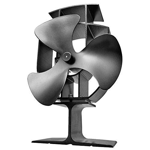 YANGSANJIN Blower,Kachel Fan-Small Size - 3 Blades Stille Werking voor Hout/Log-brander/Open haard, Milieuvriendelijk en efficiënt Warmteverdeling