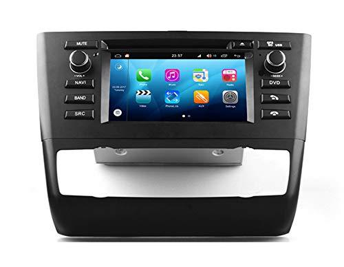 Roverone Android Sistema 6,2 Pulgadas En Dash Autoradio GPS para BMW Serie 1 E81 E82 E83 E87 E88 116i 118I con Sistema de navegación estéreo DVD Bluetooth SD USB Pantalla táctil
