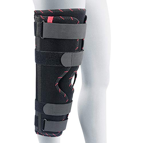 ORTONYX Tri-Panel Knee Immobilizer Full Leg Brace - Breathable and Lightweight - Straight Leg Support - Knee Splint 16' / 40cm