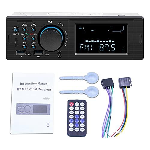ZWMBAOR Receptores Medios Digitales Estéreo Automóvil,con Control Remoto Controlar Máquina,Compatible con Reproducción Disco/Tarjeta U,para Modificación Interior Automóvil