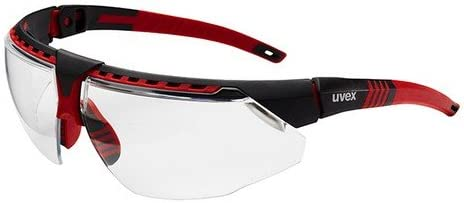 new arrival Uvex S2860HS Avatar Adjustable Safety Glasses with online HydroShield Anti-Fog sale Coating, Standard, Red/Black (1 Pair) online