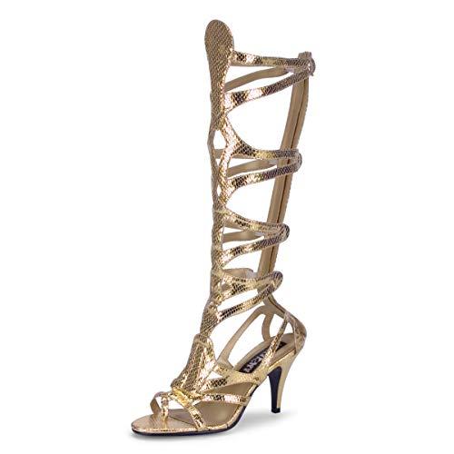 Higher-Heels Funtasma Römerinnen-Schuhe Goddess-12 mattgold Gr. 36