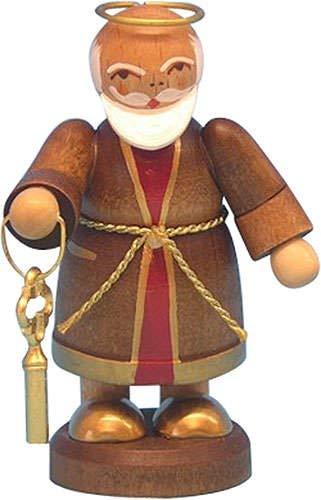 Petrus - stehend - 6cm / Weihnachtsengel - Original Erzgebirge Engel -Kunstgewerbe Uhlig