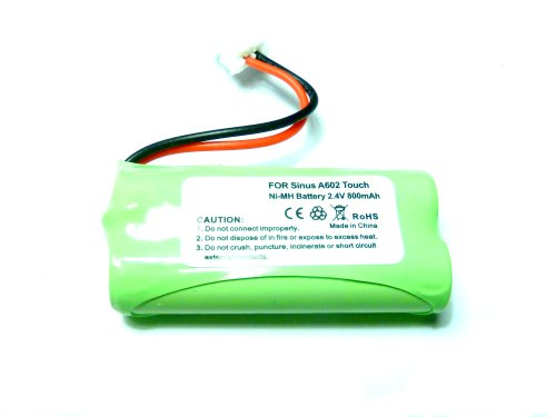 Batterie pour téléphone telekom Sinus a602 Touch vTHCH73C02, ni-mH, 2,4 v/800 mAh
