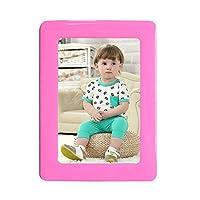 クリスタル磁気フォトフレーム5インチ6インチ10インチ無料パンチ写真壁額縁子供部屋の家の装飾 10インチの二重層 ピンク